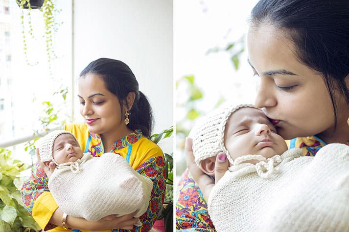 Newborn props Hyderabad, India - Infant Zaara's newborn photo session by Suryakant, the best newborn photographer in Hyderabad, India