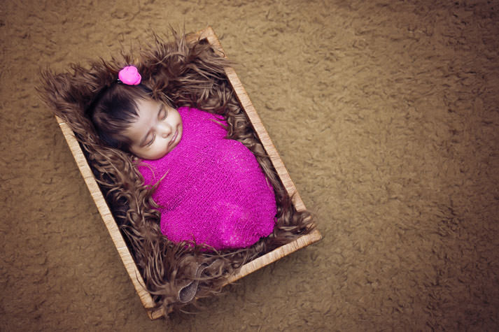 Infant Zaara's newborn photo session by Suryakant, the best newborn photographer in Hyderabad, India