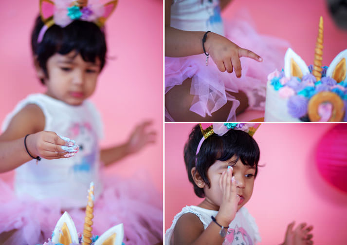 Two Year Old Unicorn Theme Baby Photo Shoot